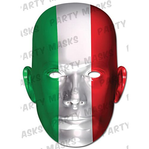 Italy International Flag Masks Card Mask