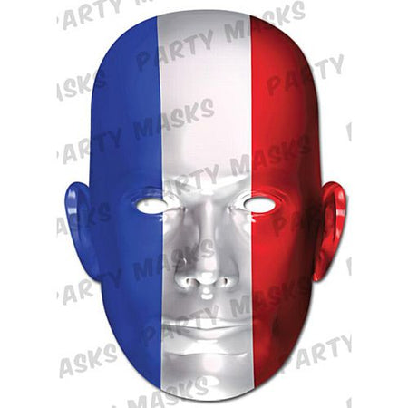 France International Flag Masks Card Mask