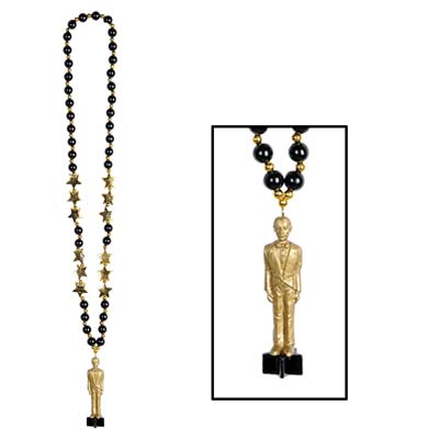 Beads with Awards Night Statuette - 91.4cm