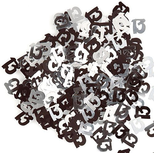 Birthday Glitz Black '13' Confetti - 14.1g