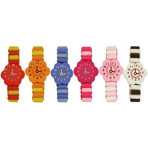 Wooden Bracelet Watch - Assorted Colours