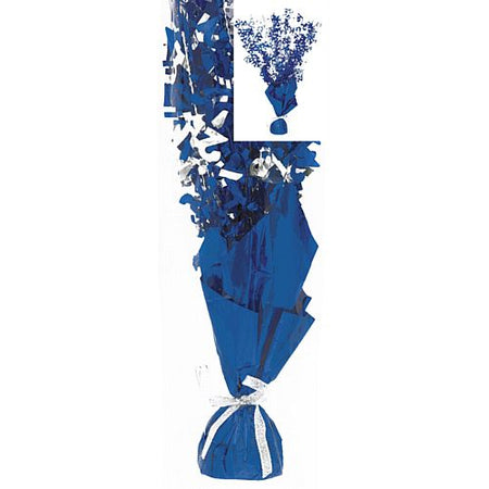 Birthday Glitz Blue '21' Foil Balloon Weight Centrepiece