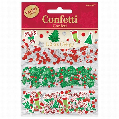 Christmas Traditional Confetti Triple Pack - 34g