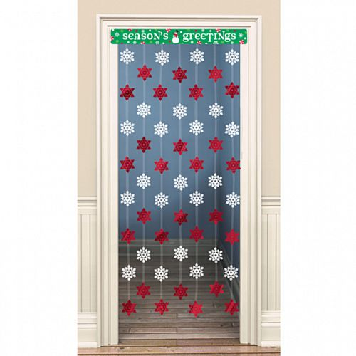 Seasons Greetings Door Curtain - 1.2m