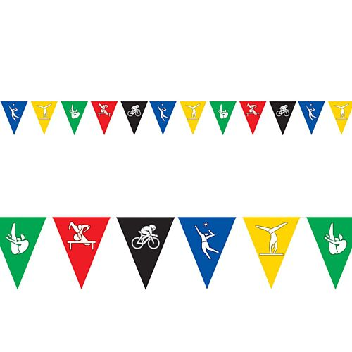 Summer Olympic Games Pennant Bunting - All-Weather - 3.66m