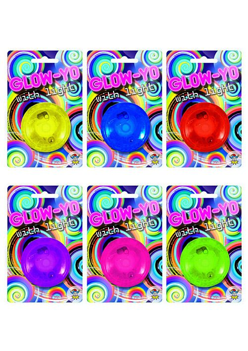 Glow-Yo Light Up Yo-Yo - Assorted Designs - 5.8cm - Each