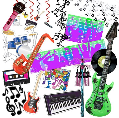 Standard Music Party Decoration Pack
