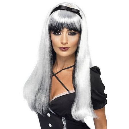 Bewitching Wig, Silver And Black