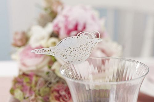 Vintage Lace Place Cards for Glass - 9.5cm - Pack of 10