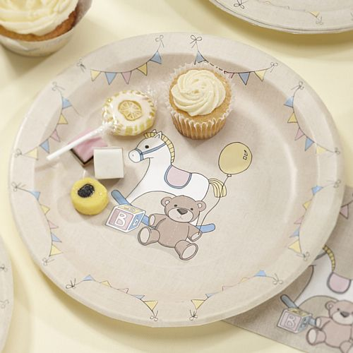 Rock-A-Bye Baby Paper Plates - 23cm - Pack of 8