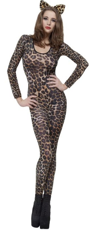 Leopard Print Brown Bodysuit