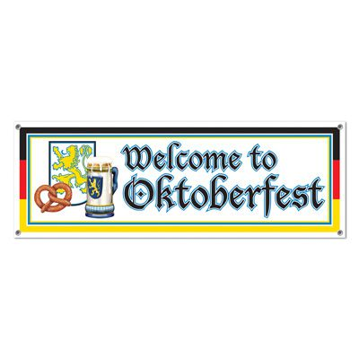 Welcome to Oktoberfest PVC Sign Banner - 1.52m