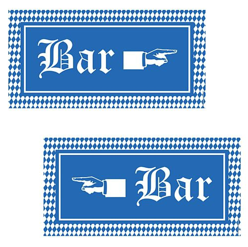 Oktoberfest Bar Signs - 58.4cm - Pack of 2