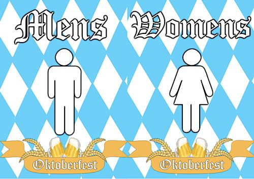 Oktoberfest Toilet Signs UK - Ladies & Gents