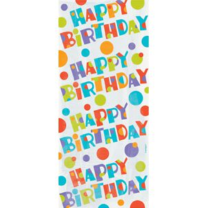Bubbly Birthday Cello Bags - Pack of 20 - 30 x 13cm