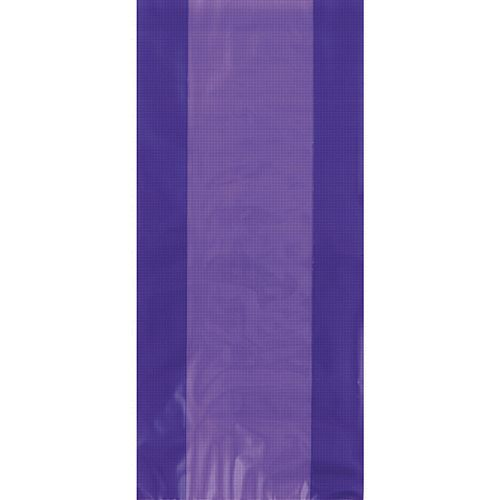 Purple Plastic Cello Bags - 28cm - Pack of 30
