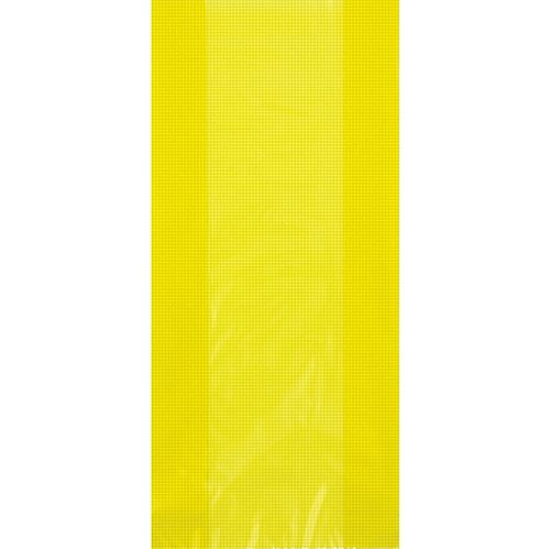Yellow Plastic Cello Bags - 28cm - Pack of 30