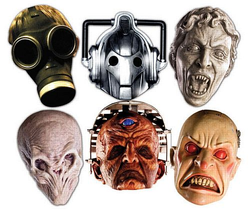 Value Pack Doctor Who Monster Card Masks - Pack of 6