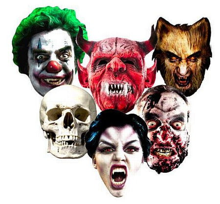 Spooky Halloween Card Masks - Pack of 6