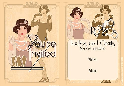 1920's Invites - Pack of 8