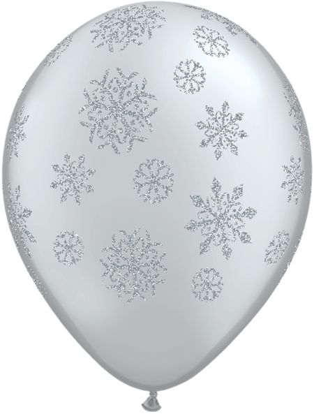 "Glitter Snowflakes Balloons - 11"" - Pack of 10"
