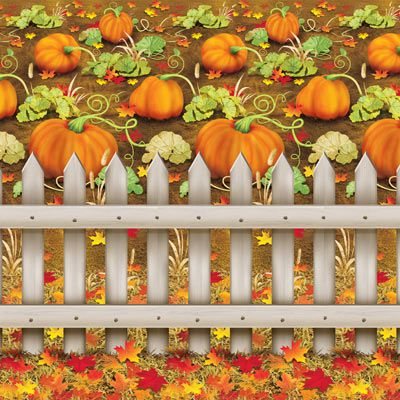 Pumpkin Patch Backdrop - 9.14m