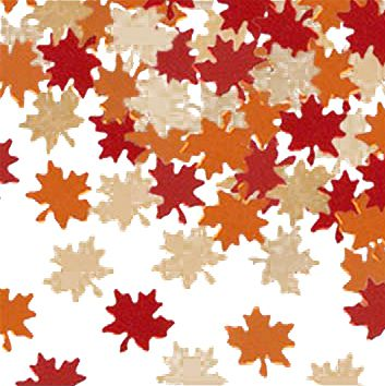 Autumn Leaves Table Confetti Copper, Gold & Red - 1oz