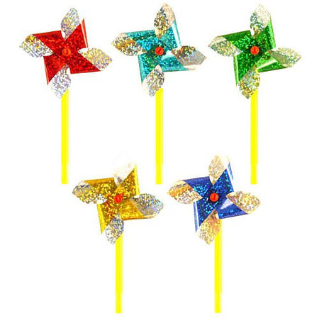Mini Windmill - Assorted Colours - 6cm - Each