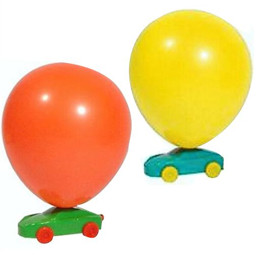 Balloon Racer Car - Assorted Colours - Each