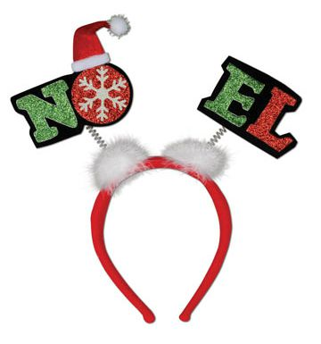 Click to view product details and reviews for Glittered Noel Head Bopppers.