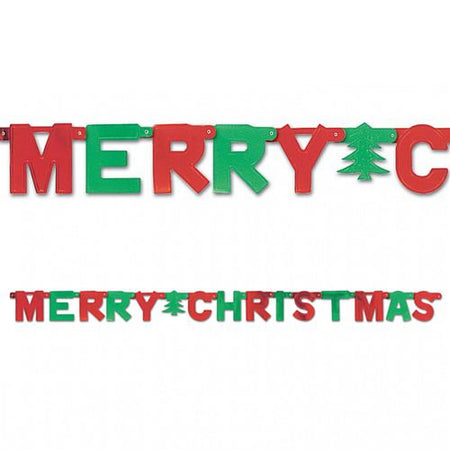 Click to view product details and reviews for Red And Green Merry Christmas Letter Banner 15m.