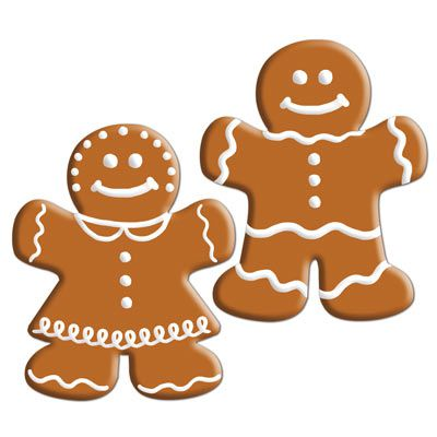 Mini Gingerbread Cutouts - 12.7cm - Pack of 10
