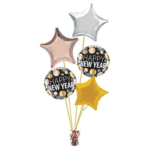 Rose Gold New Year Balloon Bouquet