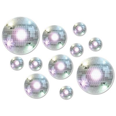 Disco Ball Cutouts - 5-30cm - Pack of 20