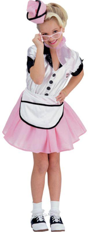 Child 50s Soda Pop Girl Costume