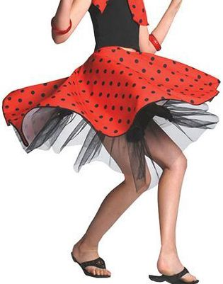 Child's Rock 'n' Roll Skirt Red
