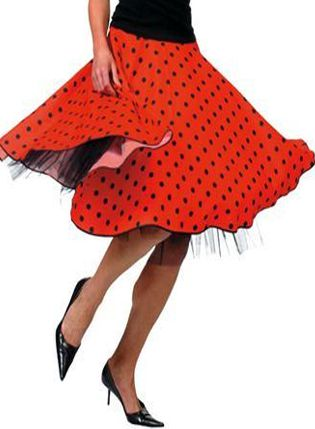 Click to view product details and reviews for Rock N Roll Skirt Red.