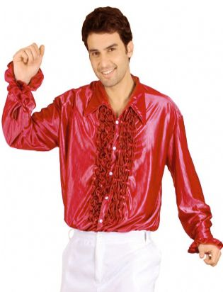 Click to view product details and reviews for Red Frilly Shirt.