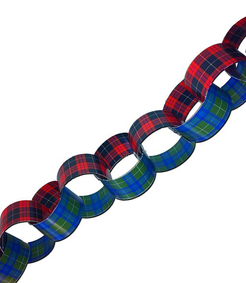 Paper Chain Sheet - Burns Night - Makes 85cm Length