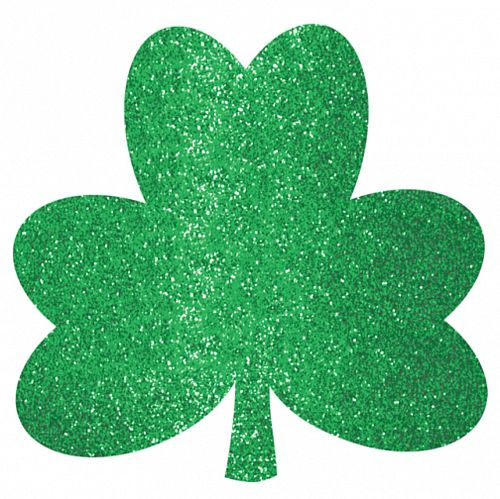 Glitter Shamrock Cutouts Mega Value Pack - Pack of 20