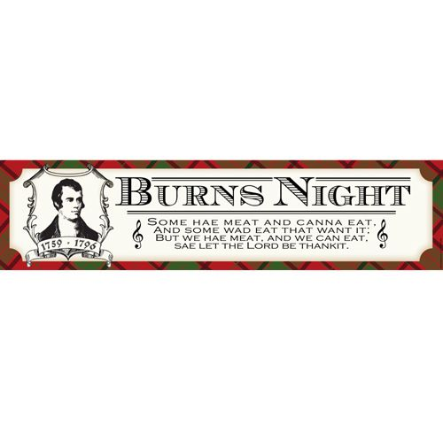 Burns Night Poetry Themed Banner - 120 cm x 29.7cm