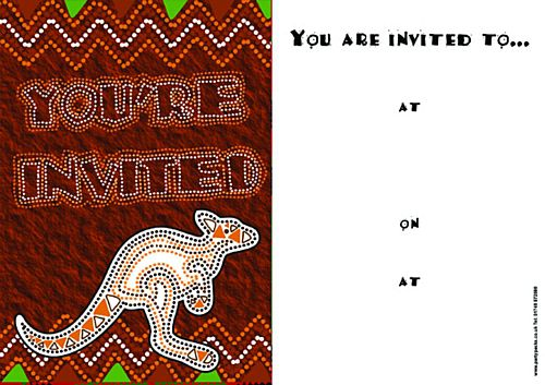 Down Under Invites - Pack of 8