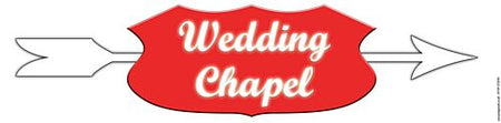 Wedding Chapel Banner - 120cm x 30cm