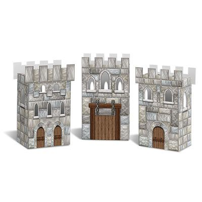Castle Favour Boxes - 15.2cm - Pack of 3