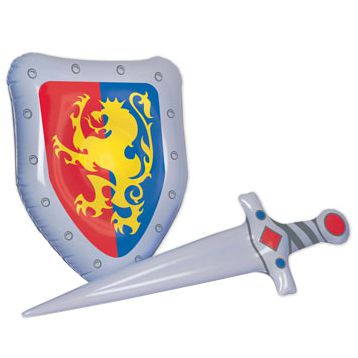 Inflatable Sword & Shield Set - 63.5cm