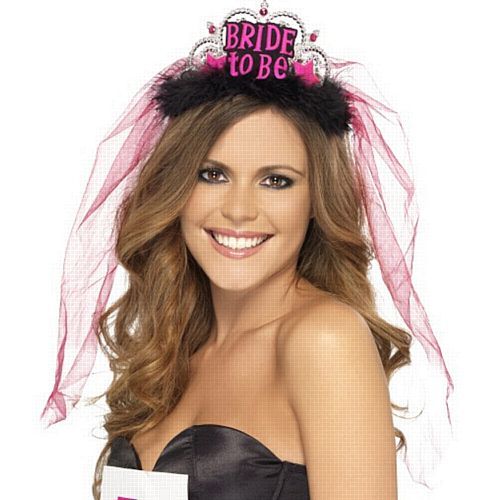 Black Bride To Be Tiara With Veil