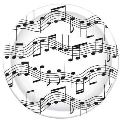 Musical Note Plates - 22.9cm - Pack of 8
