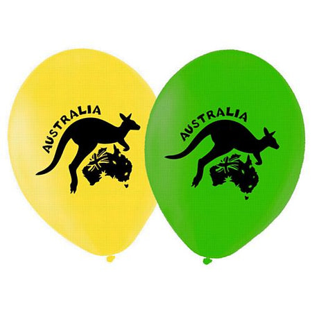 Australian Themed Latex Balloons - Pack of 10