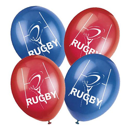 Rugby Themed Latex Balloons Pack Of 10