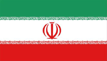 Iran Polyester Fabric Flag 5ft x 3ft